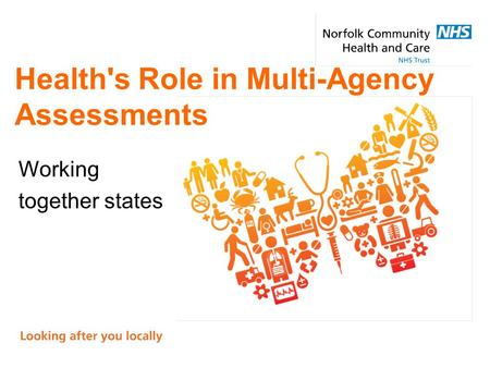 Health's Role in Multi-Agency Assessments Working together states.