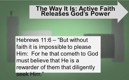 The Way It Is: Active Faith Releases God's Power