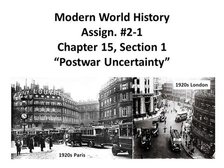 Modern World History Assign
