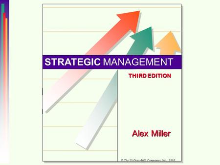STRATEGIC MANAGEMENT Alex Miller THIRD EDITION