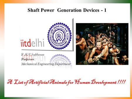 Shaft Power Generation Devices - 1
