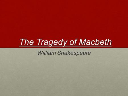 aristotleian tragedy in hamlet and macbeth