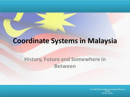 Coordinate Systems in Malaysia