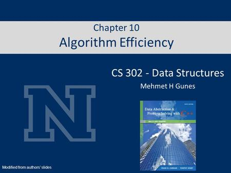 Chapter 10 Algorithm Efficiency