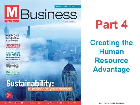 Part 4 Creating the Human Resource Advantage © 2015 McGraw-Hill Education.