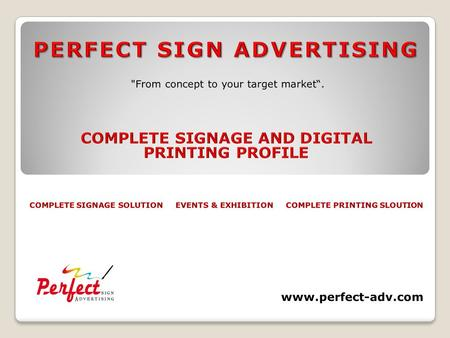 Large Format Digital Printing & Branding www.perfect-adv.com.