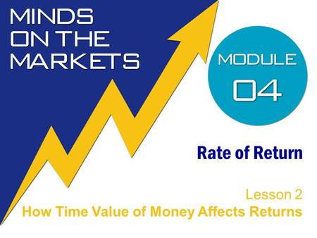 Rate of Return Lesson 2 How Time Value of Money Affects Returns.
