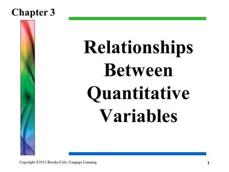 Relationships Between Quantitative Variables