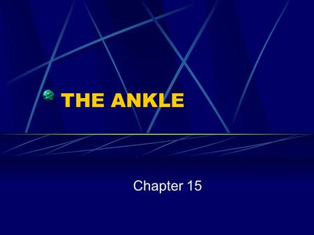 THE ANKLE Chapter 15.