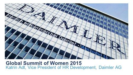 Katrin Adt, Vice President of HR Development, Daimler AG