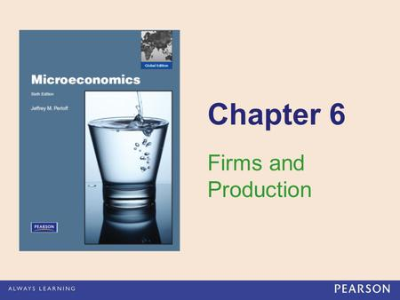 Chapter 6 Firms and Production.