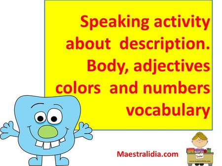 Speaking activity about description