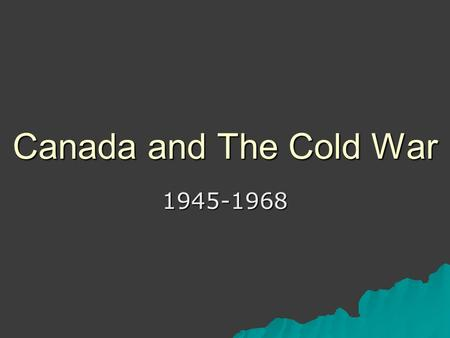 canada and the cold war essay