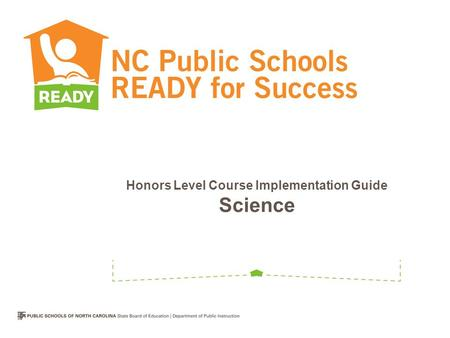 Honors Level Course Implementation Guide Science.