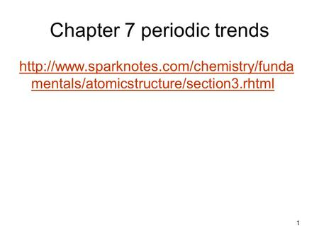 Chapter 7 periodic trends