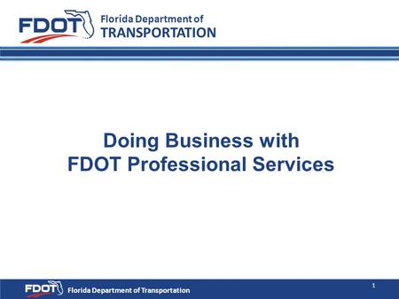 Doing Business with FDOT Professional Services
