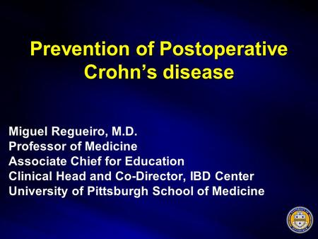 Prevention of Postoperative Crohn's disease