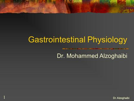 Gastrointestinal Physiology
