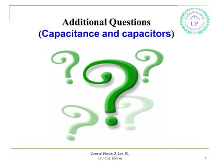 (Capacitance and capacitors)