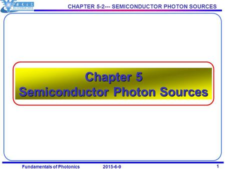 <strong>Chapter</strong> 5 Semiconductor Photon Sources