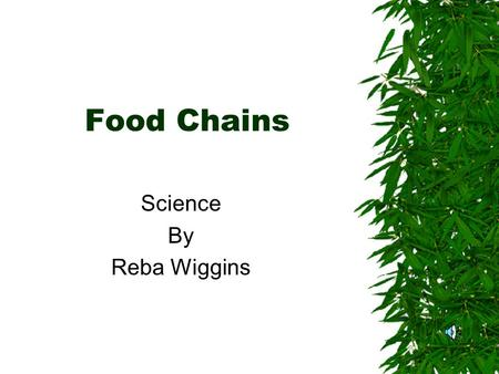 Science By Reba Wiggins