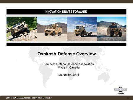 Oshkosh Defense Overview