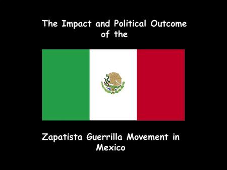 The Impact and Political Outcome of the