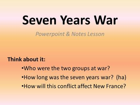 Powerpoint & Notes Lesson
