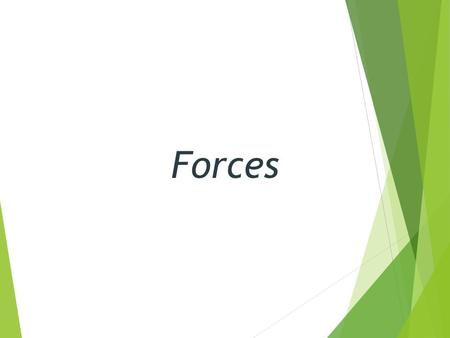 Forces. Force A force is a push or pull on an object resulting from the object's interaction with another object. This push or pull results in a change.
