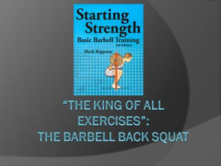 Introduction  1. Back Squat is one of the most important and complete strength training movements  2. WHY: Utilizes HIP EXTENSION  3. WHERE IT'S USED: