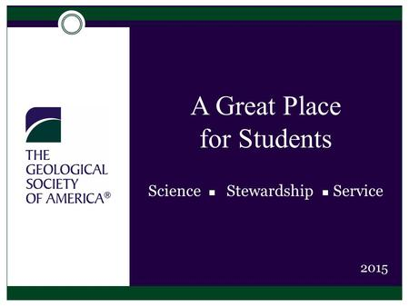 A Great Place for Students Science  Stewardship Service 2015.