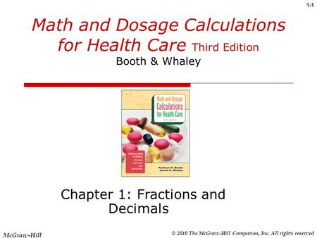 Chapter 1: Fractions and Decimals