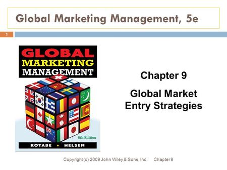Global Marketing Management, 5e