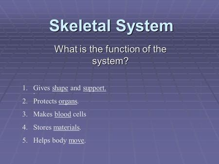 What is the function of the system?
