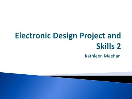 Electronic Design Project and Skills 2