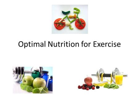 Optimal Nutrition for Exercise. Stored energy Energy is stored as body fat or glycogen (carbohydrate in muscles and liver) & is broken down to provide.