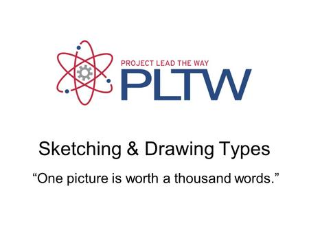 "Sketching & Drawing Types ""One picture is worth a thousand words."""