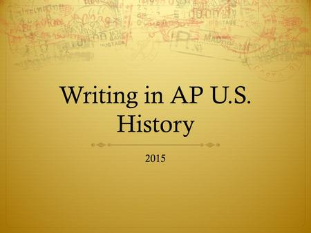 apush essay which was more important If you are actually talking about writing a narrative paper about something that happened to you, you need to see my article on how to write a reflective essay with sample essays search for it on letterpile or on my profile page.