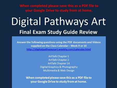 final exam study guide and answer