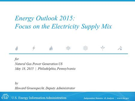 Energy Outlook 2015: Focus on the Electricity Supply Mix