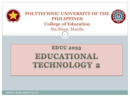 EDUC 2093 EDUCATIONAL TECHNOLOGY 2