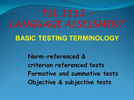 discuss the role of criterion referenced And of criterion referenced scores,  role wt role wt test measurement evaluation  following sections discuss test administration circumstances and.