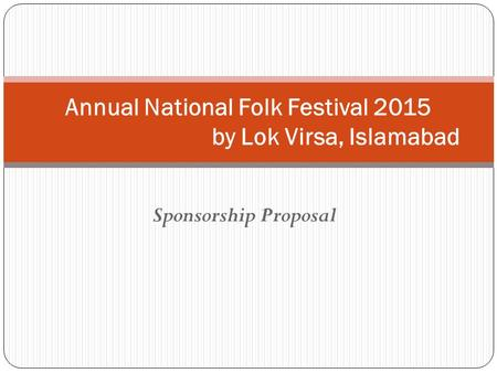 Annual National Folk Festival 2015 by Lok Virsa, Islamabad