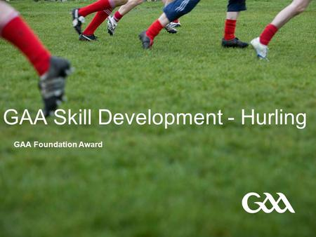 GAA Skill Development - Hurling GAA Foundation Award.