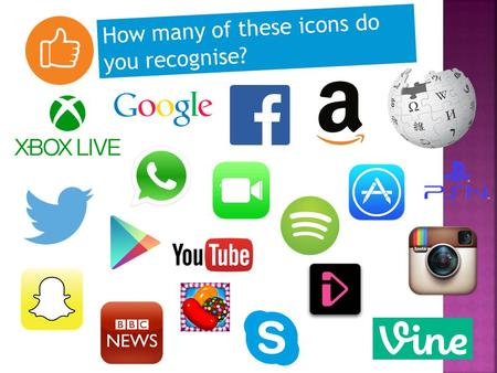 How many of these icons do you recognise?. Year 7 Guidance Manager CEOP Ambassador.