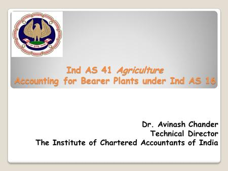 Ind AS 41 Agriculture Accounting for Bearer Plants under Ind AS 16