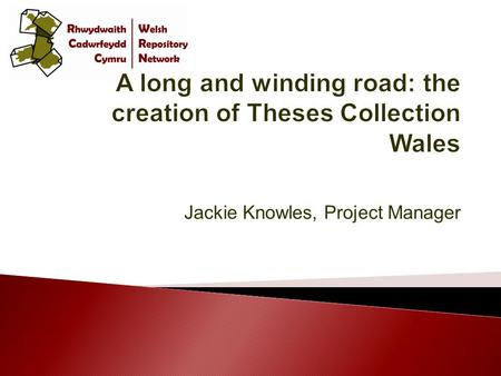Jackie Knowles, Project Manager. Image from