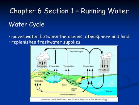 Chapter 6 Section 1 – Running Water