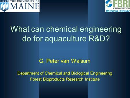 What can chemical engineering do for aquaculture R&D?
