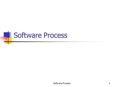 Software Process Software Process.